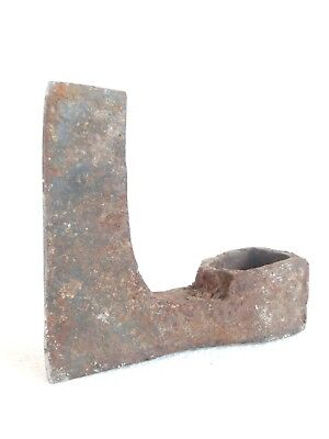 ANTIQUE Wrought Iron > Blacksmith Made - Viking Style Axe Head > PRIMITIVE Tool