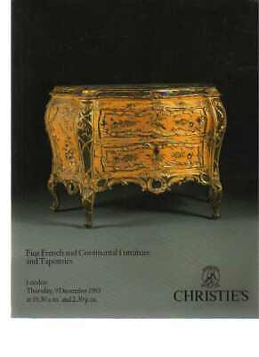 Christies 1993 Fine French & Continental Furniture & Tapestries