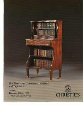 Christies May 1994 Fine French & Continental Furniture & Tapestries