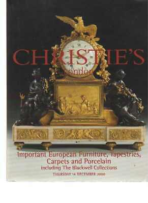 Christies 2000 Important European Furniture Tapestries Carpets