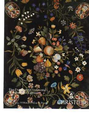 Christies 1992 French & Continental Furniture and Tapestries