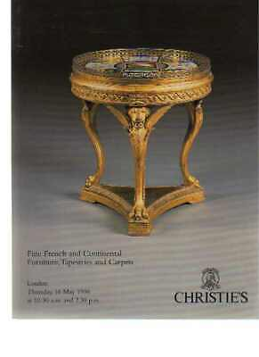 Christies 1996 Fine French and Continental Furniture, Tapestries
