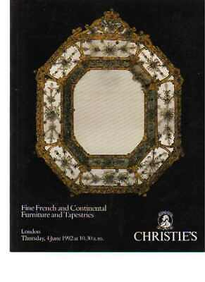 Christies 1992 Fine French & Continental Furniture & Tapestries