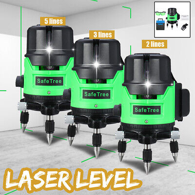 2/3/5 Green Line Self Leveling Laser Level 360° Rotating Auto Measuring