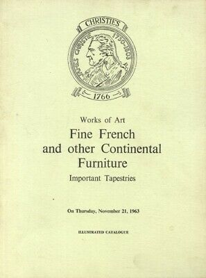 Christies 1963 Fine French & Continental Furniture, Tapestries