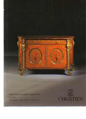 Christies 1995 Important English Furniture