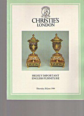 Christies 1984 Highly Important English Furniture
