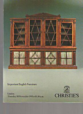 Christies 1993 Important English Furniture