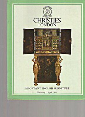 Christies 1985 Important English Furniture