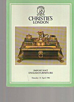 Christies 1986 Important English Furniture