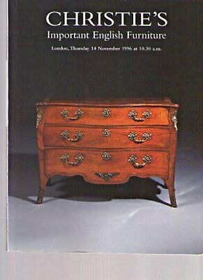 Christies 1996 Important English Furniture