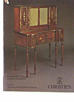 Christies 1990 Important English Furniture