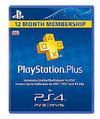 Playstation Plus 365 Days UK Card - PSN 12 Month Code PS Store - instant deliver