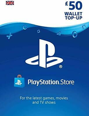 Playstation Network £50 Card - PSN 50 GBP UK PS4 PS3 PSP Instant Delivery