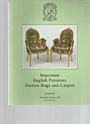 Christies 1983 Important English Furniture, Eastern Rugs