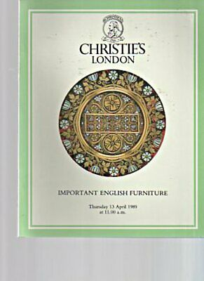 Christies 1989 Important English Furniture