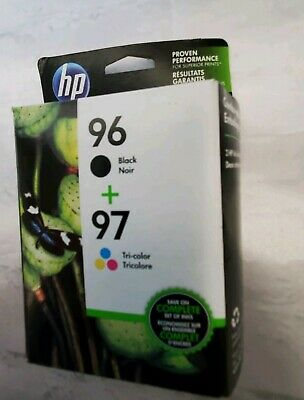 New HP Genuine Ink Cartridges 96  97 Combo-Pack Black  Tri-color expired 3/17