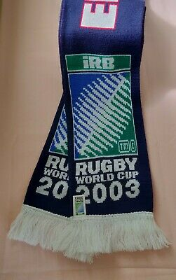 ENGLAND iRB RUGBY WORLD CUP SCARF 2003 WITH THE OFFICIAL RWC DVD.