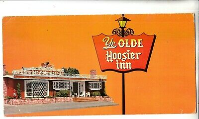 RARE VINTAGE Menu/Ye Olde Hoosier  Restaurant/Stockton CA Interior View/Unique