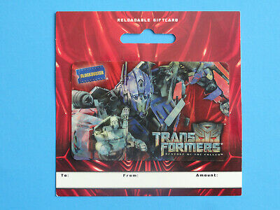 Blockbuster Video Transformers 2009 Gift Card New On/Backer (No Value On Card)