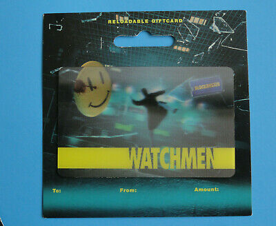 Blockbuster Video Dc Comics Watchmen 2009 Gift Card New On/Backer -No Value