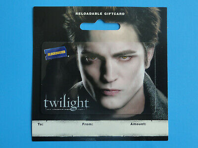 Blockbuster Video Twilight Edward Gift Card New 2009 On Backer- No Value On Card