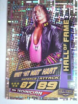 Topps Wwe Slam Attax Universe Hall Of Fame Bret The Hitman Hart Card Comb Post