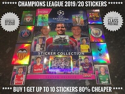 New Topps CHAMPIONS LEAGUE Stickers 2019/20 No.403-595, Free Post, Genuine