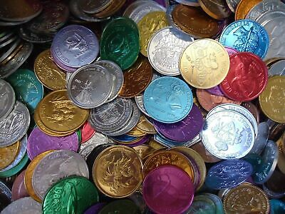 Mardi Gras Box of Vintage & Current Colorful Assorted Aluminum Doubloons