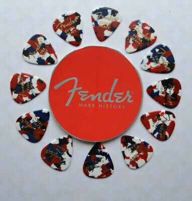 098-0351-725 Fender Tortuga 351 Guitar Picks Extra Heavy TORTOISE SHELL 6