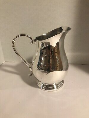 Newport Silverplated Water Pitcher With Ice Lip