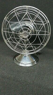 Vintage FRESH'ND AIRE Fan-Model 14 Chrome w/Bakelite Blade - Mid Century Deco
