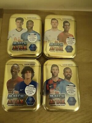 Match Attax Champions League 2019/20 4 x Collectors Tins