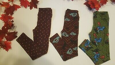 THREE Lularoe kids halloween leggings s/m pre-owned