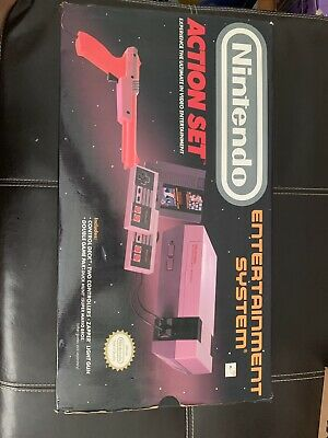 Nintendo Entertainment System Action Set Console NES CIB COMPLETE IN BOX Poster
