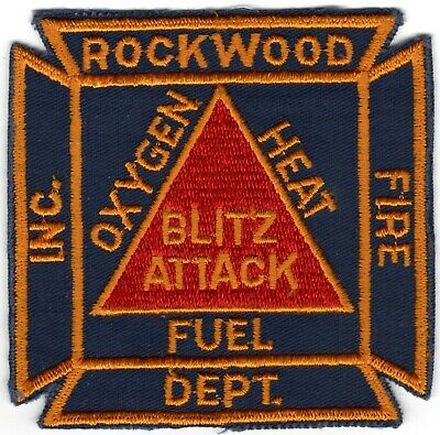 Rockwood Somerset County Pennsylvania PA Fire Company Department Patch