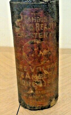 RARE Antique C.1900s paper Label Dry Cell Battery~the Famous Ever Ready ROUGH!