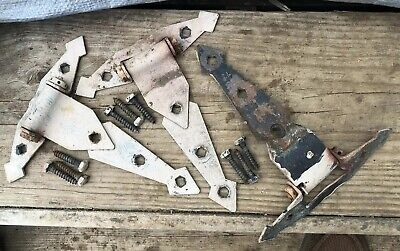 Lot of 3 VINTAGE Antique Gate Strap Hinge- Old Barn Door Salvage Reclaim Iron?