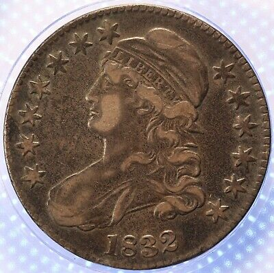 1832 Capped Bust Half Dollar, Bold Detail, Untouched, Original Olde Patina!