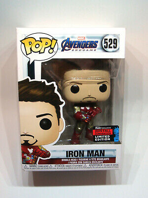 Funko Pop! Avengers Endgame Iron Man Nano Gauntlet #529 Nycc Amazon Exclusive