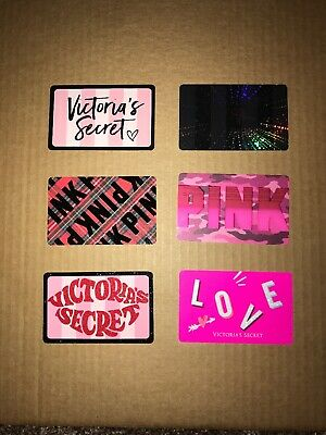 Victorias Secret Gift Card Lot - Rare 6 Cards Unloaded Empty Cards Brand New