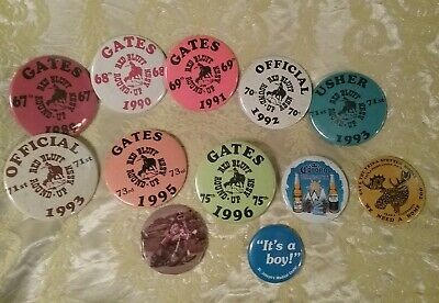 Vintage Western Rodeo Badge/Pin Lot