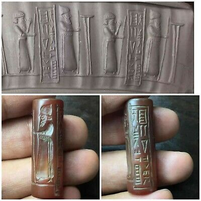 Central Asia fantastic old antique cylinderseal bead