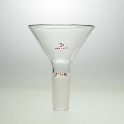 Proglass Power Funnel ,60°  side angle and a standard taper inner joint 24/40