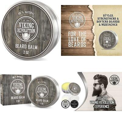 Viking Revolution Beard Balm - All Natural Grooming Treatment With Argan Oil  M