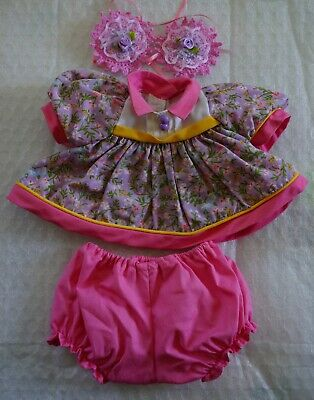 My Child Doll Original Abc Dress With Repo Panties & Barrettes - Final Reduction