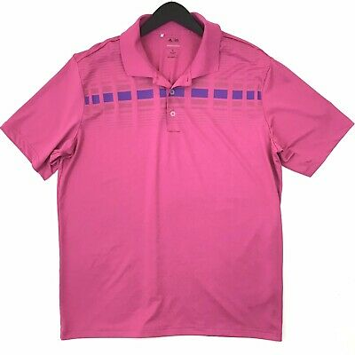 Adidas Golf PureMotion Golf Polo XL Mens Pink Short Sleeve Stretch Active