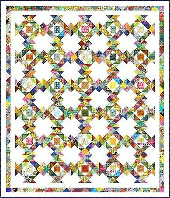 """DELIGHTFUL - 85"""" x 73"""" - Quilt-Addicts Precut Patchwork Quilt Kit King Single"""