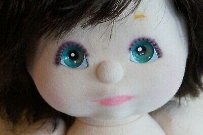 Mattel My Child Doll - Brunette Top Knot - Aqua Eyes - Charcoal Pink