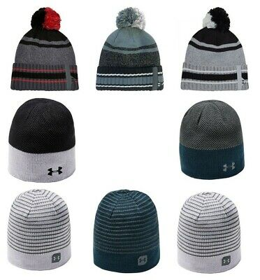Under Armour Mens Beanie Winter Hat Pom 2019 Warm Hats Reversible Golf Beanies
